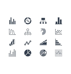 Diagram and infographic icons vector