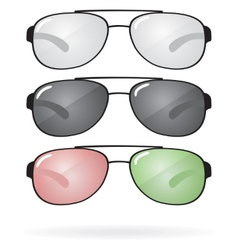 Set of sunglasses and eyeglasses vector