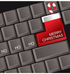 Christmas keyboard vector