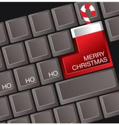 christmas keyboard vector image