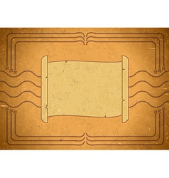 Vintage frame with scroll vector