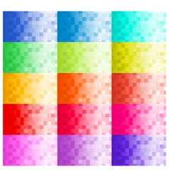 Pixel Business Card Templates vector image