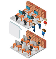 3d design for people working in office vector