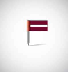 Latvia flag pin vector
