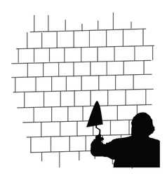 Man front the brick wall vector