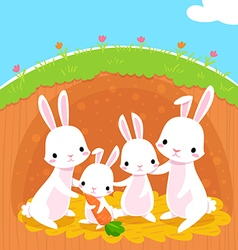 Rabbits family vector