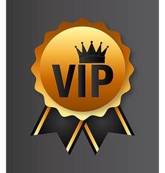 vip emblem vector image
