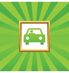 Car picture icon vector