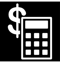 Calculation icon from commerce set vector