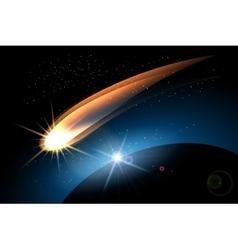 The Comet vector image