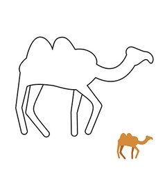 Camel coloring book desert animal vector