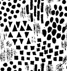 Seamless pattern with ink hand drawn shapes vector