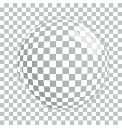 Transparent magnifying glass on gray background vector