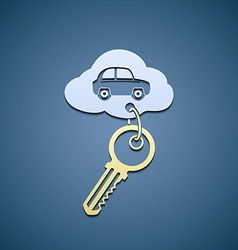 Key from the car vector image