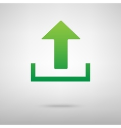 Upload green icon vector