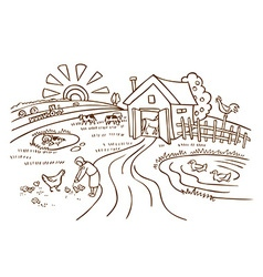Farm and agriculture vector