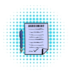 Agreement icon comics style vector