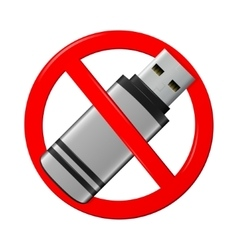 No flash drive sign vector