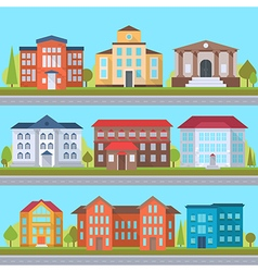Set of streets vector