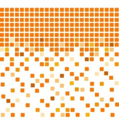 Simple orange mosaic background vector