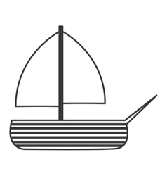Toy sailboat icon vector