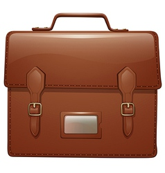 A brown leather bag vector