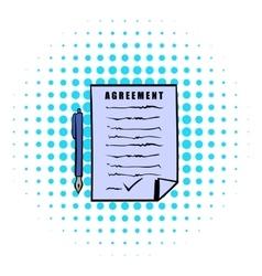 Agreement icon comics style vector