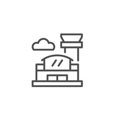 airport line icon vector image vector image