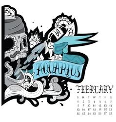 Aquarius tattoo vector image