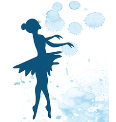 Ballerina and artistic background vector