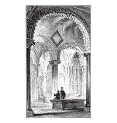 Bedes tomb durham cathedral vintage vector