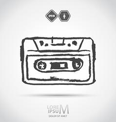 Cassette tape vector