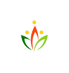 colored lotus flower logo vector image