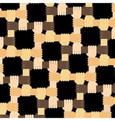 Connecting multiracial human hands pattern vector
