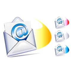 email sent and arriving SMS vector image vector image