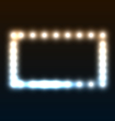 Frame with blurred lights vector
