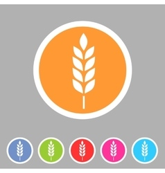 Gluten free icon flat web sign symbol logo vector