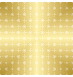 gold pattern with white ornament vector image