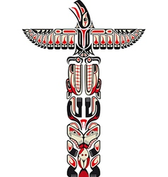 Haida style totem pattern vector image vector image