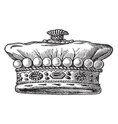 Member of the european nobility vintage engraving vector