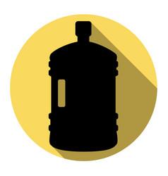 Plastic bottle silhouette sign flat black vector