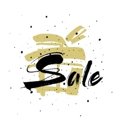 Sale drawn lettering sale typography vector