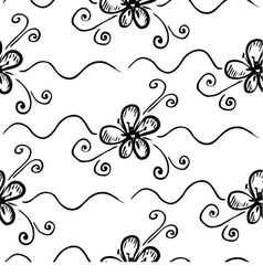 seamless floral background on white background vector image vector image