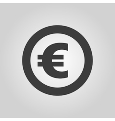 The euro icon Cash and money wealth payment vector image