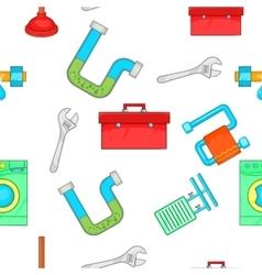 Toilet pattern cartoon style vector