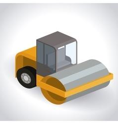 truck isometric design vector image vector image