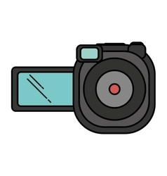 video camera device isolated icon vector image