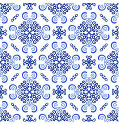 White blue background luxury weave pattern vector