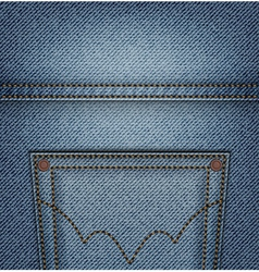 Jeans pocket top vector