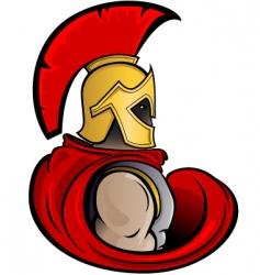 trojan warrior vector image